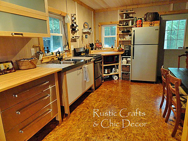 Creative diy flooring ideas rustic crafts chic decor for Diy kitchen floor ideas