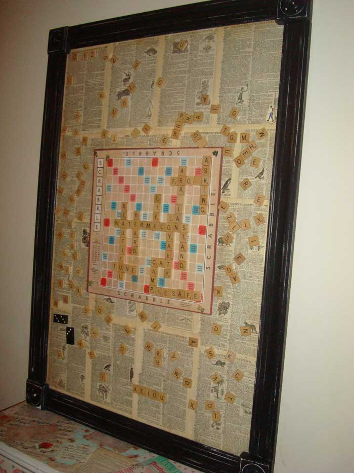 game crafts - magnetic scrabble board