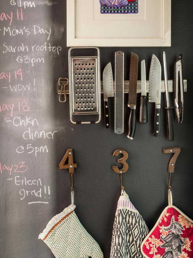 creative ideas to get organized - magnetic storage