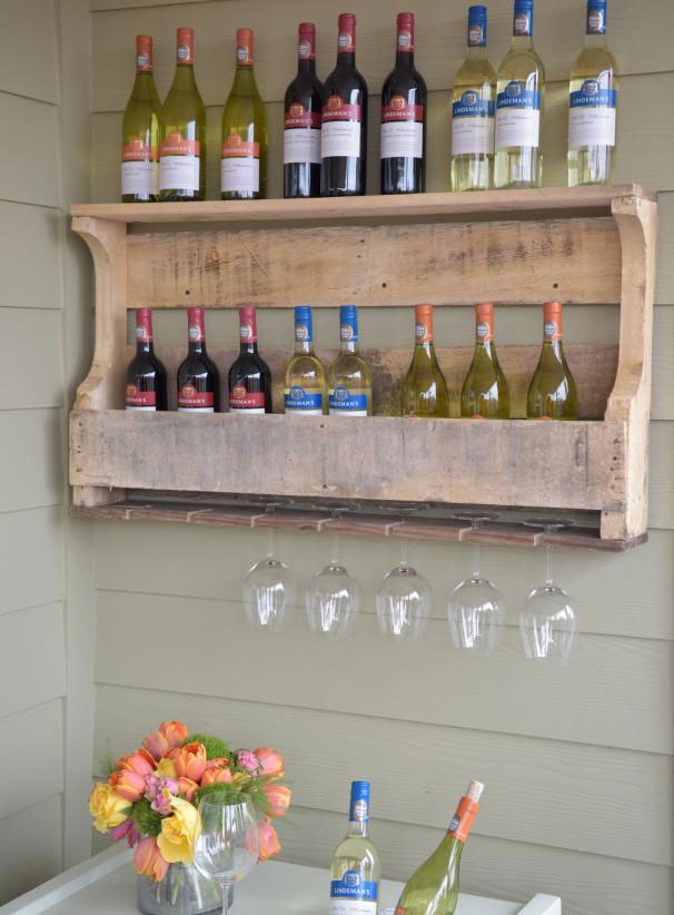 ideas for pallets - pallet wine rack