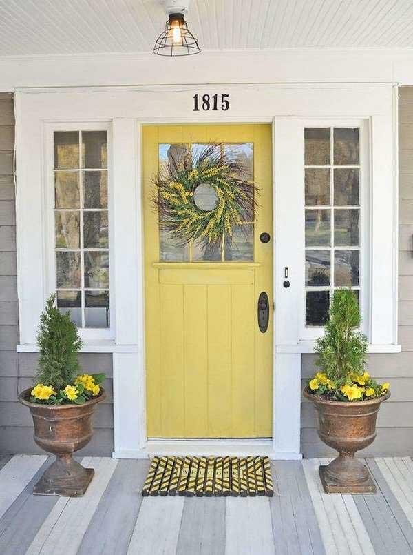 painted front door - yellow