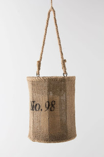 Anthropologie jute lantern