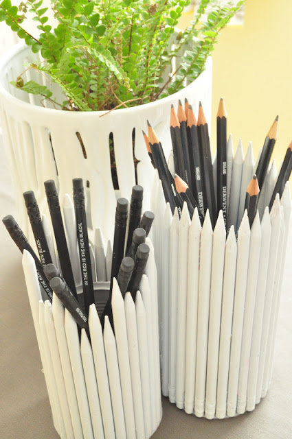 painted pencil pencil holder