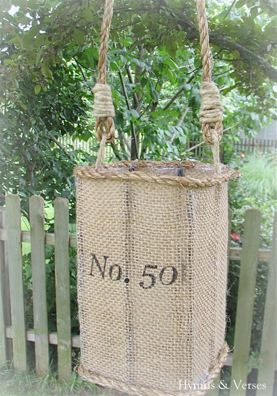 Anthropologie inspired jute lantern