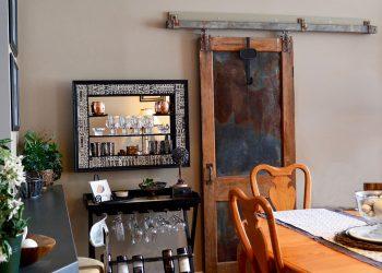 rustic chic decor DIY - add a sliding barn door