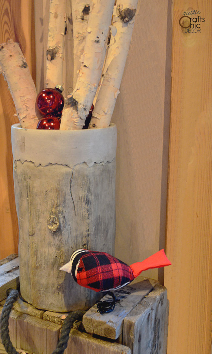 decorating with birch logs