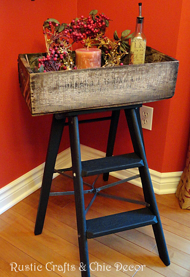 diy ladder tray by rustic-craft.com
