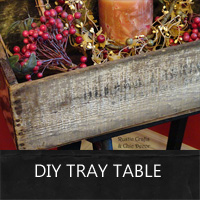 DIY Tray Table Using A Ladder And A Crate - Rustic Crafts ...