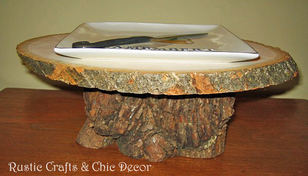 pedestal snack tray by rustic-crafts.com