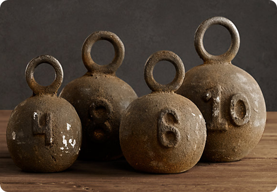 fishing weights by Restoration Hardware