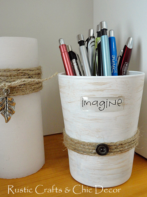 diy pencil holders - by rustic-crafts.com