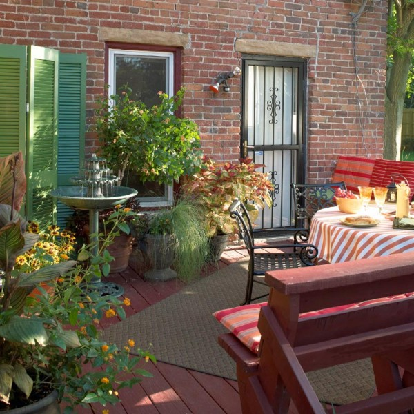 Decorating A Patio Fascinating Of Small Patio Deck Decorating Ideas Image
