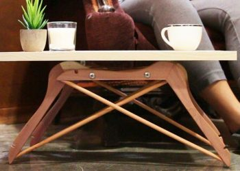 wooden hanger crafts - small table