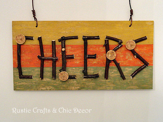 top rustic crafts - cheers sign by rustic-crafts.com