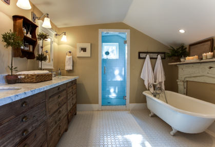 rustic chic bathroom designs