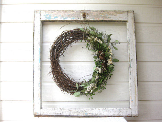 dried floral wreaths
