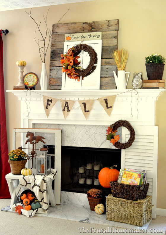 fall mantel decorating ideas
