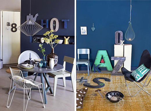 how to decorate a blue room