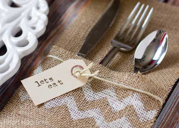 burlap craft ideas