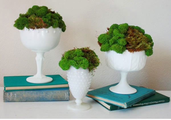 milk glass centerpiece ideas
