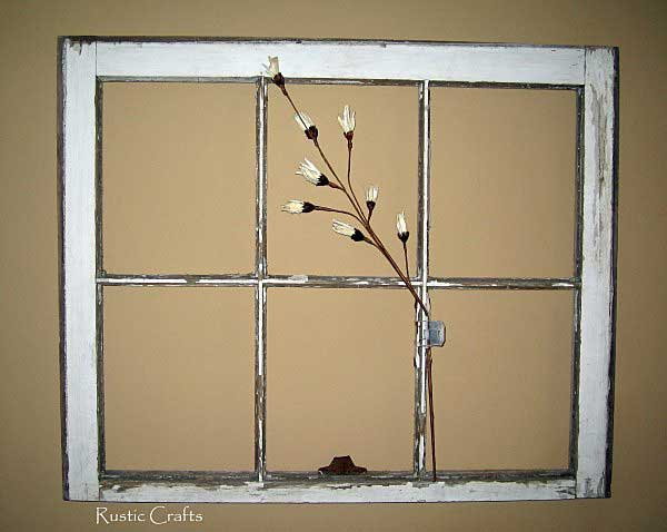 How to decorate with old windows rustic crafts chic How to decorate windows