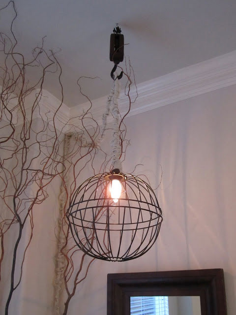 wire basket diy light