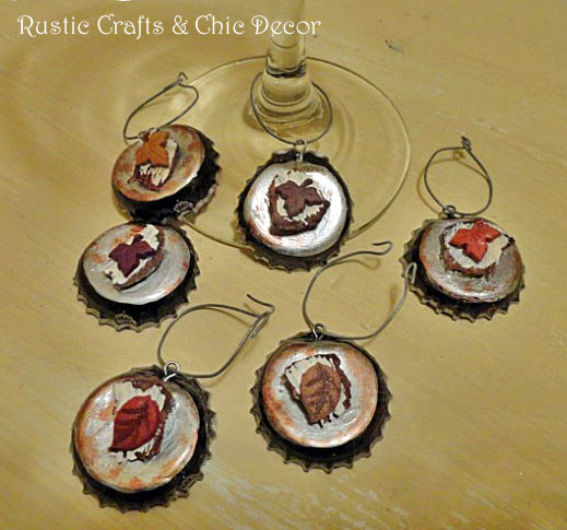bottle cap wine charms by rustic-crafts.com