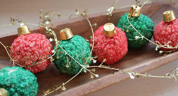 christmas ornament treats