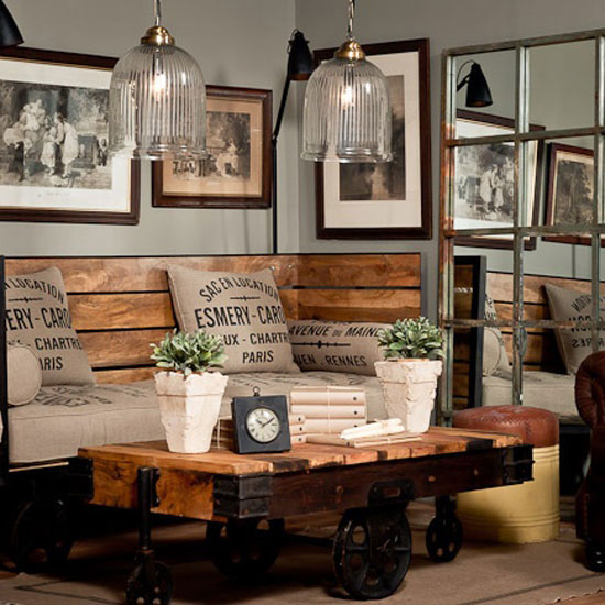 Home Office Designs Living Room Decorating Ideas: Fifteen Ideas For Decorating Rustic Chic