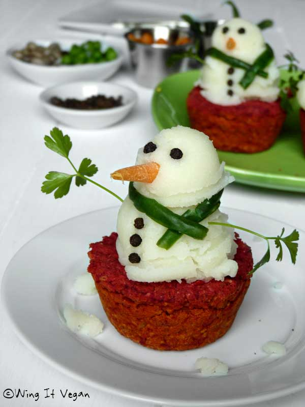 mashed potato snowman