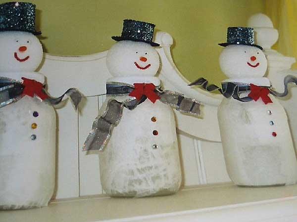mason jar snowmen