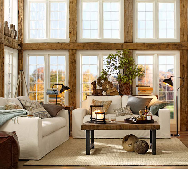 Fifteen ideas for decorating rustic chic rustic crafts for Rustic living room design ideas