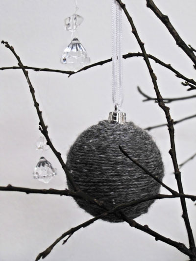 yarn wrapped ornament