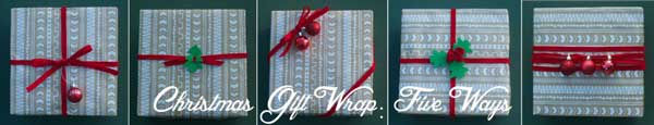 christmas gift wrap 5 ways