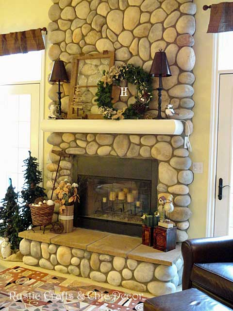 christmas fireplace by rustic-crafts.com