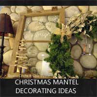 christmas mantel decorating ideas by rustic-crafts.com