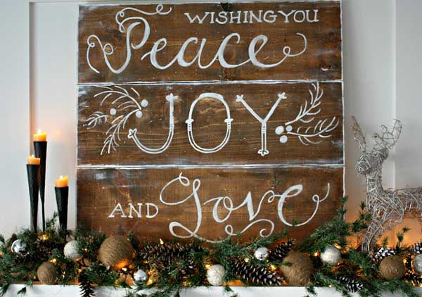 christmas mantel sign