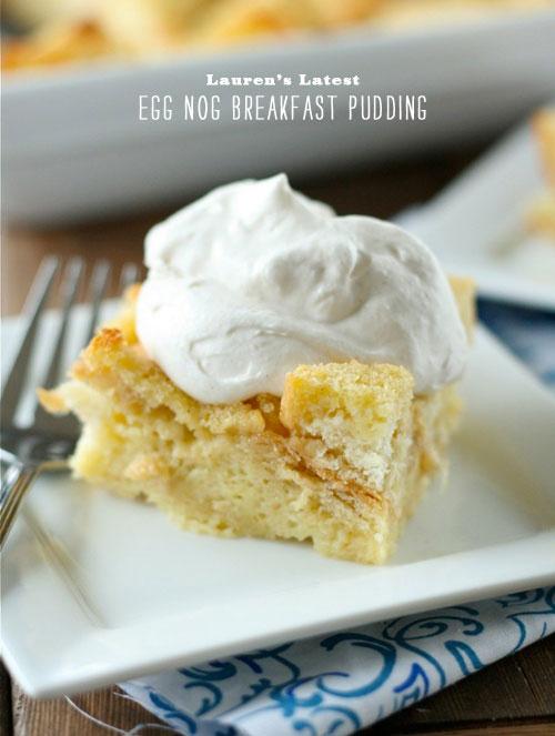 Christmas recipes - egg nog breakfast pudding