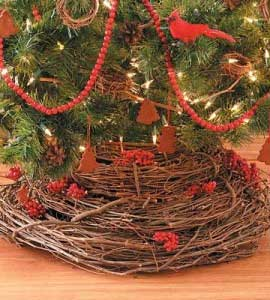 grapevine tree skirt