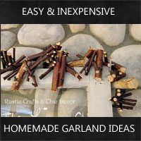 homemade garland ideas by rustic-crafts.com