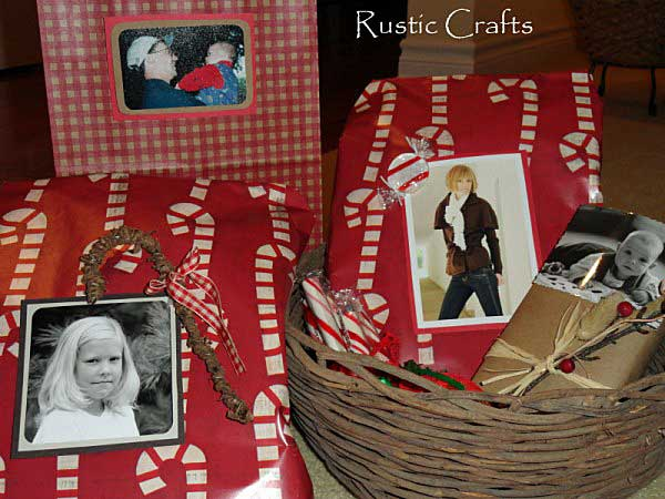photo tag gift wrap