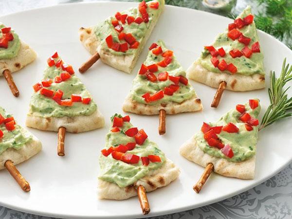 Pita Bread Christmas Trees recipe