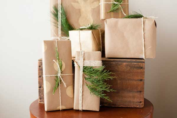 rustic natural gift wrap