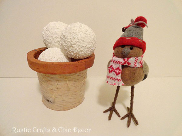 snowball craft by rustic-crafts.com