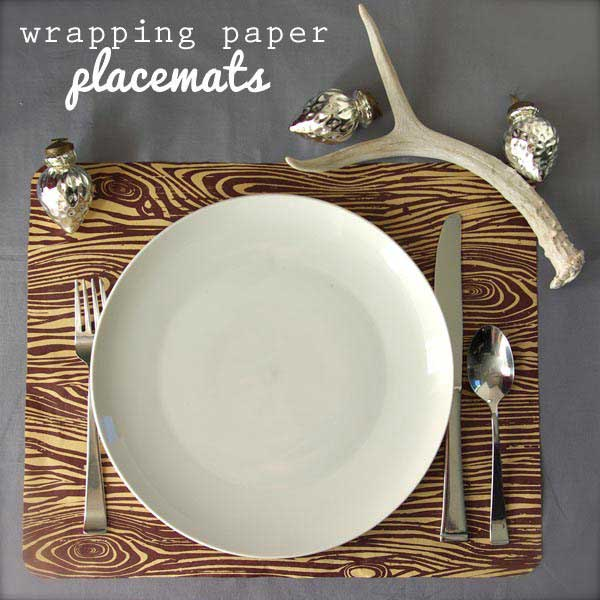 wrapping paper placemats