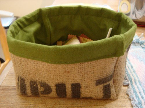 coffee burlap sac box