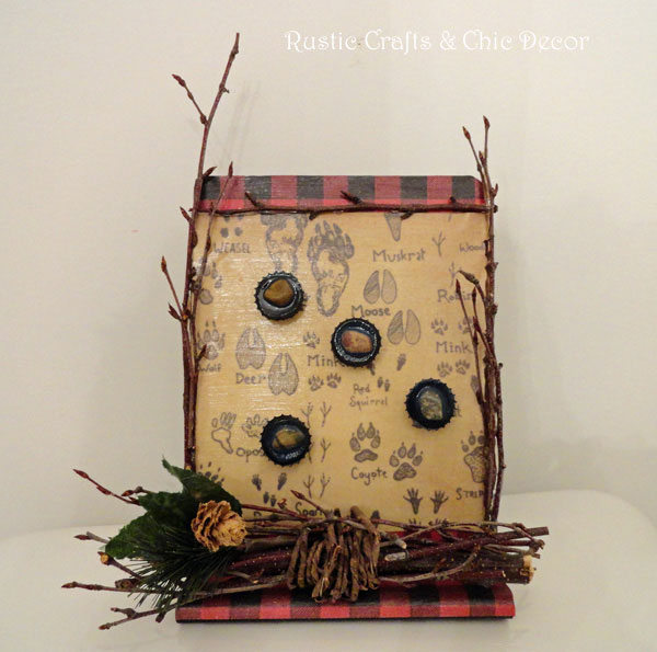 rustic magnet board craft by rustic-crafts.com