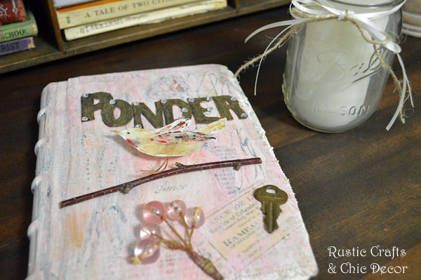 mixed media journal by rustic-crafts.com