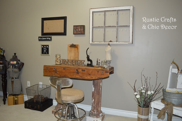 office makeover by rustic-crafts.com