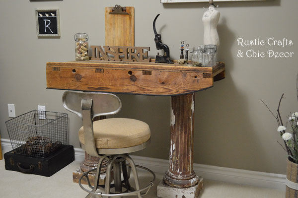 diy desk by rustic-crafts.com
